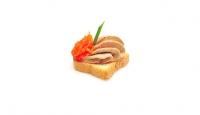 Pâté de foie de volaille et carottes confites